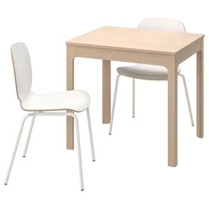 EKEDALEN / SVENBERTIL Tisch und 2 Stühle, Birke/weiß