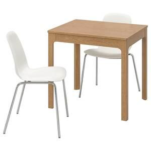 EKEDALEN / LEIFARNE Tisch und 2 Stühle, Eiche/weiß