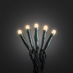 Konstsmide              Micro LED Lichterkett gefrostet, 50 LEDs, warmweiß