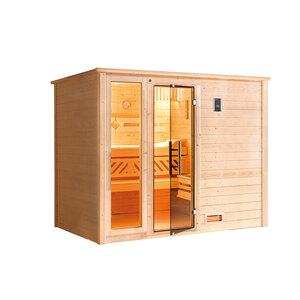 """Weka              Massivholzsauna """"Bergen 3"""", mit Glastür und Fenster, ohne Ofen"""