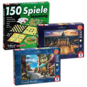 Schmidt 1000-Teile-Puzzle oder Spielesammlung