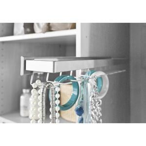 Hom`in Krawattenhalter ausziehbar alufarben , Matrix -Hom IN- /budget 2 , Metall , matt , 001172000555