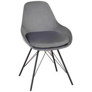 Joop! Stuhl graphitfarben, schwarz , Wires -Joop- , Metall , Uni , 53x85x58 cm , lackiert , Stoffauswahl , 002408024602