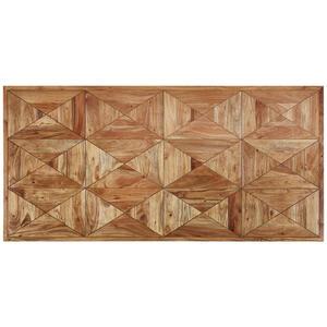 Valdera Tischplatte akazie hartholz hellbraun , Memory , Holz , 200x4.8x100 cm , lackiert,Echtholz , 001609000914
