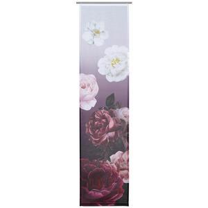 Ambiente FLÄCHENVORHANG transparent 60/245 cm , Rose , Bordeaux , Textil , Rose , 60x245 cm , Batist , ohne Technik , 003115053601
