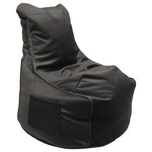 XXXLutz Sitzsack samt grau , Pesaro , Textil , 330 L , 65x95x65 cm , Samt , Indoor, Reißverschluss , 000277002415
