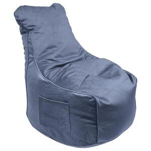 XXXLutz Sitzsack samt hellblau , Pesaro , Textil , 330 L , 65x95x75 cm , Samt , Indoor, Reißverschluss , 000277002417