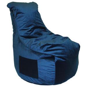 XXXLutz Sitzsack samt dunkelblau , Pesaro , Textil , 330 L , 65x95x75 cm , Samt , Indoor, Reißverschluss , 000277002416