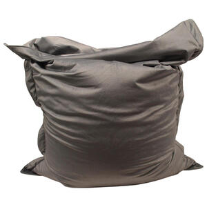XXXLutz Sitzsack samt hellgrau , Bari , Textil , 380 L , 180x140x14 cm , Samt , Indoor , 000277002302