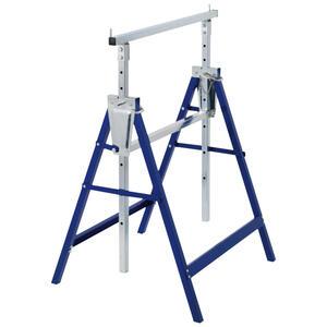 XXXLutz Klappbock 2-er set , 1151002 , Blau, Silberfarben , Metall , 58x130x68 cm , 008802033801