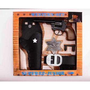 XXXLutz Kinderkostüm , 195 0149 Schrödel Western Set , Schwarz, Silberfarben , Kunststoff , 29.5x28.5x6 cm , 005490000601