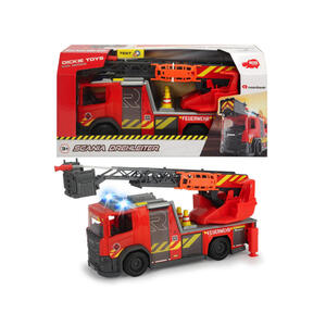Dickie Toy Feuerwehrauto , 203716017 , Gelb, Grau, Rot , Kunststoff , 39.5x19.5x14 cm , Geräuscheffekte, Lichteffekte,Geräuscheffekte, Lichteffekte,Geräuscheffekte, Lichteffekte , 004500048301