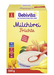 Bebivita Milchbrei Früchte ohne Zuckerzusatz ab 4.Monat 500G