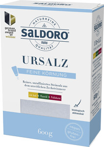 Saldoro Urmeer Salz mit Jod, Fluorid & Folsäure 600G