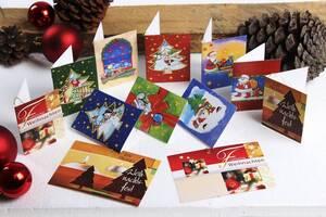Weihnachts-Geschenkanhänger, 12 Stück