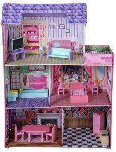 Besttoy - Puppenhaus aus Stoff - mit Möbeln