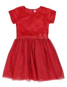 Mädchen Kleid mit Schleifenapplikation