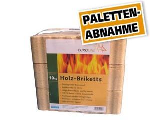 Holzbriketts 10 kg ,  Palettenabnahme, 96 Pack