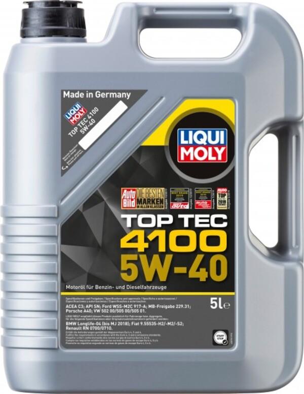 Liqui Moly Motoröl Top Tec 4100 SAE 5W-40 ,  5 l