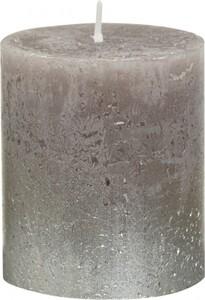 Bolsius Rustik Stumpenkerze Metallic ,  tupe, Höhe 8 cm, Ø 6,8 cm
