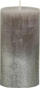 Bolsius Rustik Stumpenkerze Metallic ,  taupe-champagner, Höhe 13 cm, Ø 6,8 cm