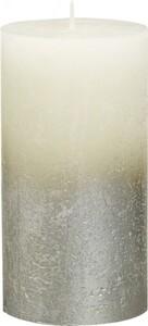 Bolsius Rustik Stumpenkerze Metallic ,  elfenbein-champagner, Höhe 13 cm, Ø 6,8 cm