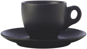 MAXWELL & WILLIAMS CAVIAR BLACK Espressotasse mit Untertasse