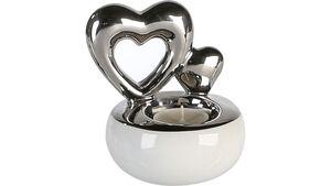 """Casablanca Teelichtleuchter """"Hearts"""", Ø 18 cm"""