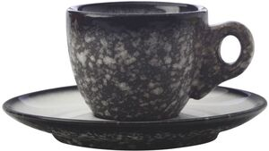 MAXWELL & WILLIAMS CAVIAR GRANITE Espressotasse mit Untertasse