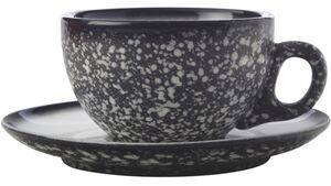 MAXWELL & WILLIAMS CAVIAR GRANITE Tasse mit Untertasse