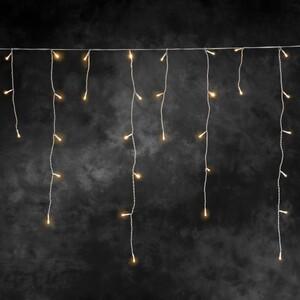 Konstsmide LED Eisregen Lichtervorhang für Außen ,  336 LED, bernstein
