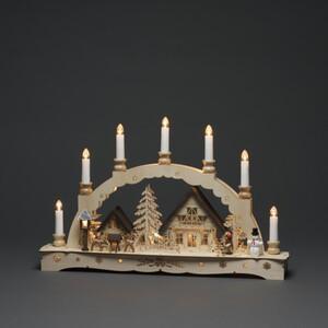 Konstsmide Holzsilhouette sieben Kerzen ,  48 x 8 x 30 cm