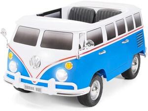 VW Bus Bulli T1 Samba Camper Elektroauto weiß blau