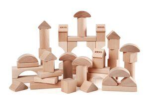 BRIO 30113 »Natur Holzbausteine 50Teile«, 7 verschiedene Formen, ab 1 Jahr