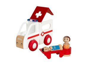 BRIO 30381 »My Home Town Krankenwagen mit Licht und Sound«, 4-teilig, ab 1,5 Jahren