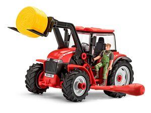 Revell Junior Kit Modellbausatz  Traktor, Maßstab 1:20, mit Lader und Figur, ab 4 Jahren