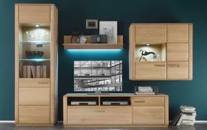 MCA furniture - Wohnwand Sena in Eiche bianco
