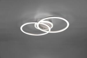 Reality LED Deckenleuchte VENIDA titanfarbig, Acryl weiß