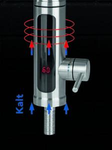 elektrische Edelstahl-Armatur
