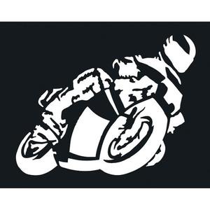 POLO Aufkleber Biker groß weiß