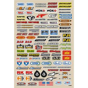 FX Factory Effex Aufklebersatz Sponsormarken 48x33cm Micro 1