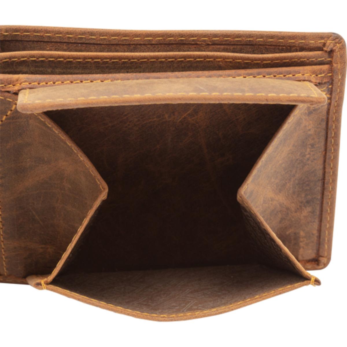 Bild 4 von Spirit Motors Vintage Leder Geldbörse quer 18 Fächer braun