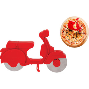 Balvi Scooter Pizzaschneider rot