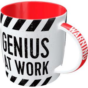 """Nostalgic-Art Tasse """"WARNING Genius at Work"""" 330 ml"""