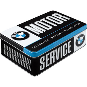 "Nostalgic-Art Vorratsdose Flach ""BMW-Service"" blau"