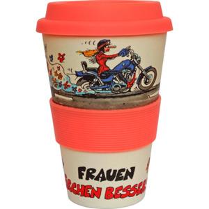 MOTOmania Coffee to go-Bambus-Becher 500 ml