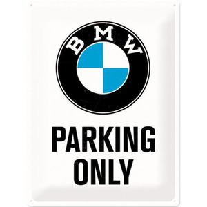 "Nostalgic-Art Blechschild 30 x 40 ""BMW - Parking Only"" weiß"