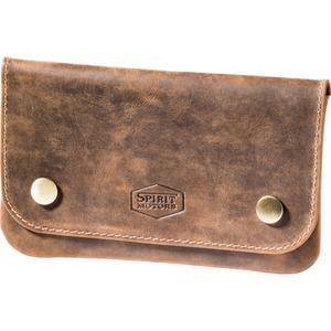 Spirit Motors Vintage Leder Gürteltasche für Tabak braun