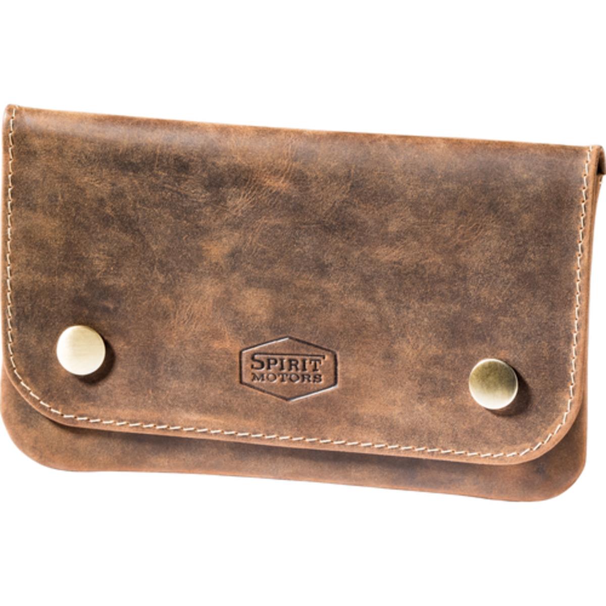 Bild 1 von Spirit Motors Vintage Leder Gürteltasche für Tabak braun