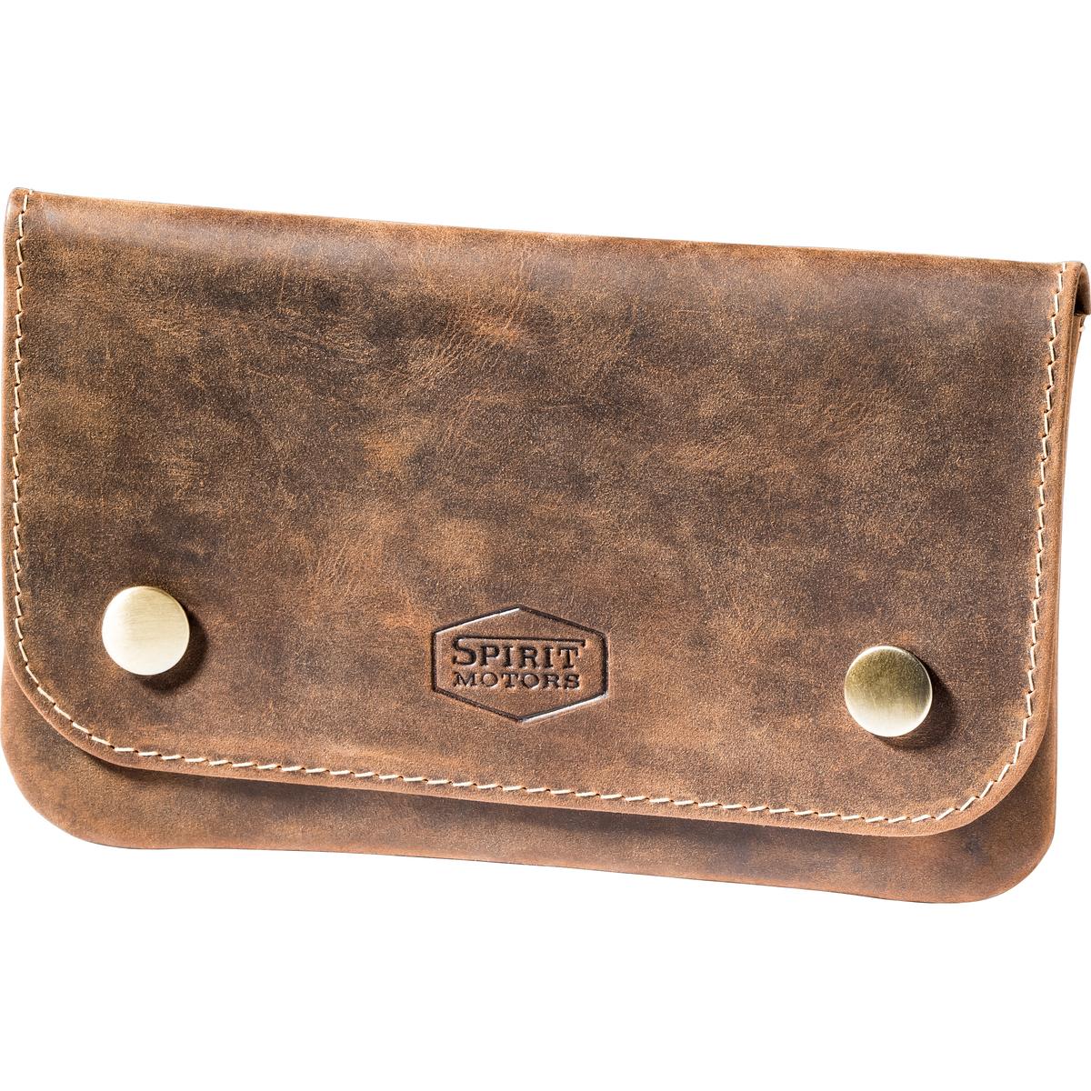 Bild 4 von Spirit Motors Vintage Leder Gürteltasche für Tabak braun